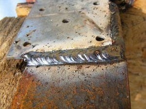 arc welding results