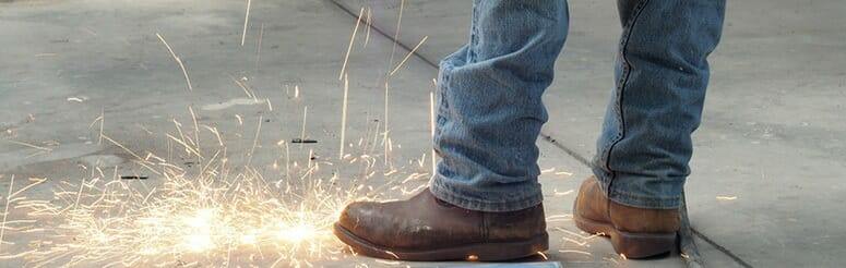 Welding Boots Take no damage