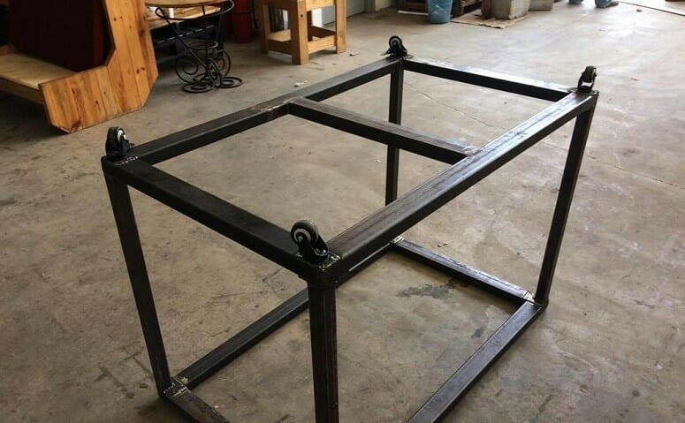 Putting Legs On Welding Table
