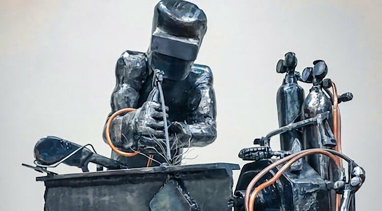 Sculture of a Welder