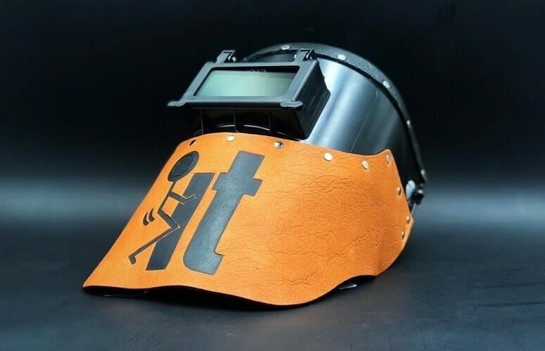 Leather And Plastic Helmet