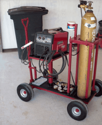 you don't have to use an angled welding cart