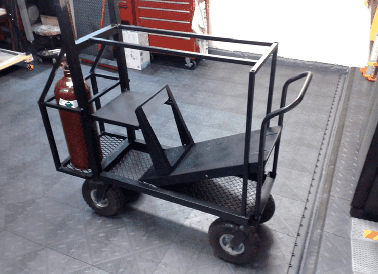 welding carts have to be reachable