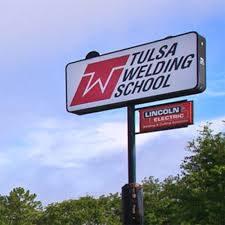 Tulsa Welding School Sign
