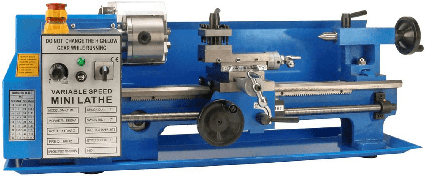 Erie Tools Benchtop Mini Metal Lathe